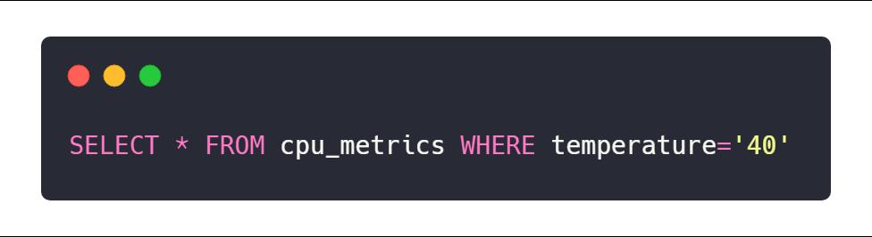 InfluxDB Measurement IFQL example