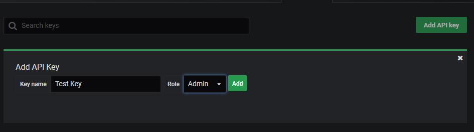 Add API Key