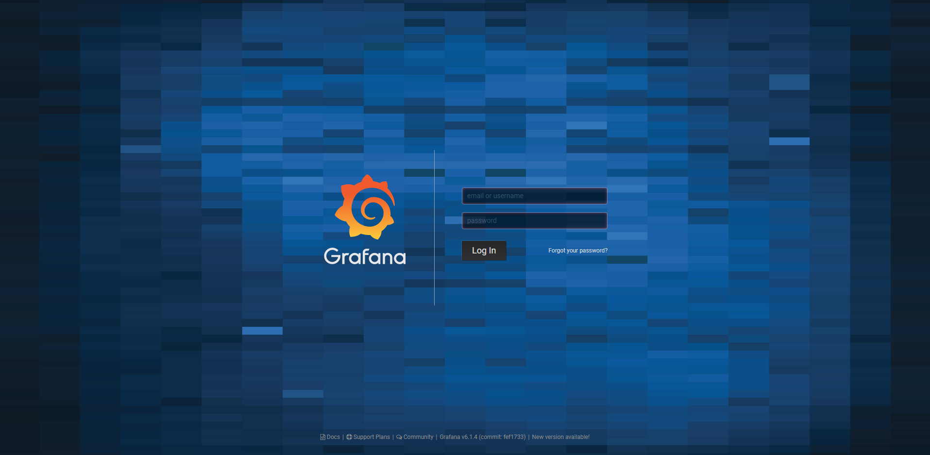 Grafana default UI