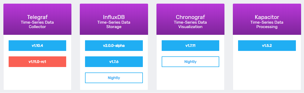 InfluxDB download page