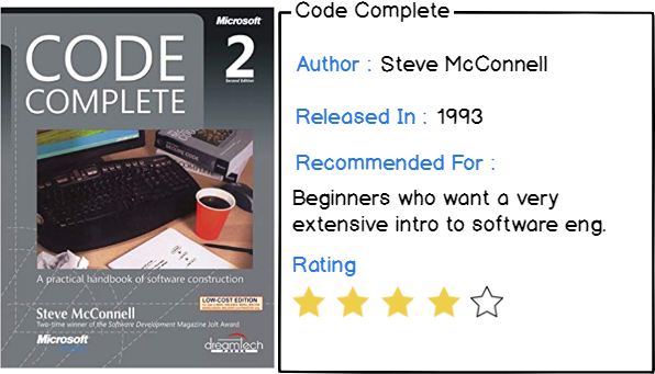 Sixth book : code complete
