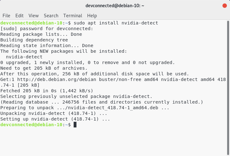 Debian 10 - installing nvidia-detect