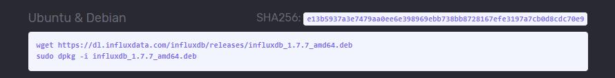 Downloading InfluxDB via wget