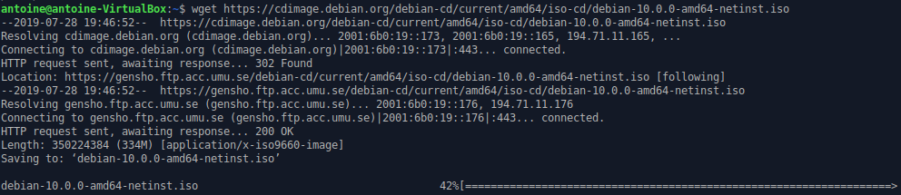 Getting Debian 10 iso file