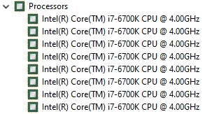 Eight cores on a CPU