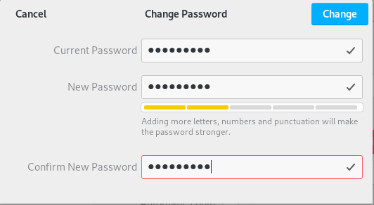 Changing password on Debian 10 Buster