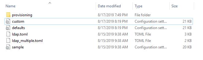 Adding a custom configuration file