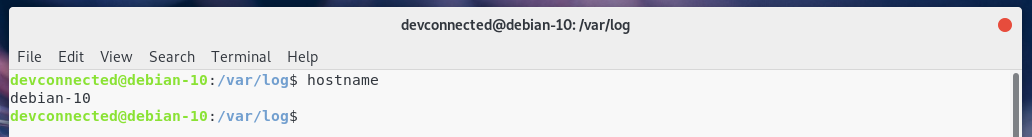 Hostname on Debian 10