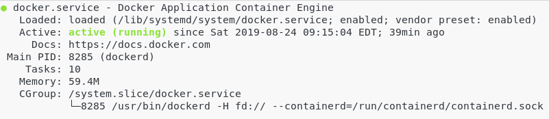 Docker running a service on Linux