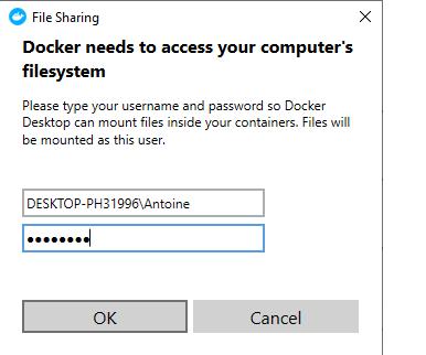 Docker filesystem permission box