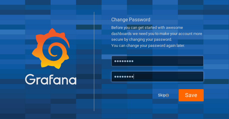 Changing your password in Grafana Docker