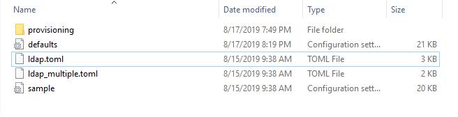Grafana configuration folder on Windows