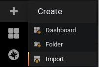 Import a dashboard in Grafana
