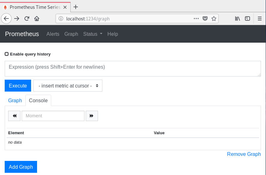 Checking Prometheus Web UI