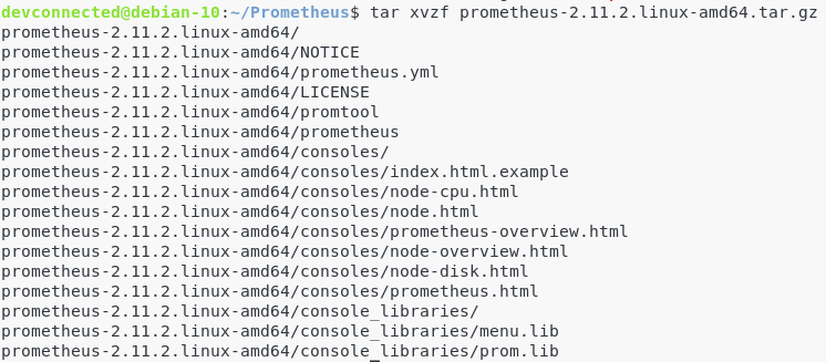 Extract Prometheus archive