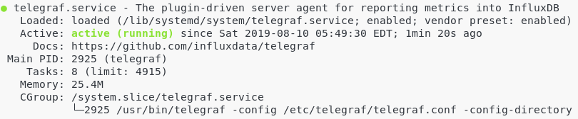 Checking Telegraf service health