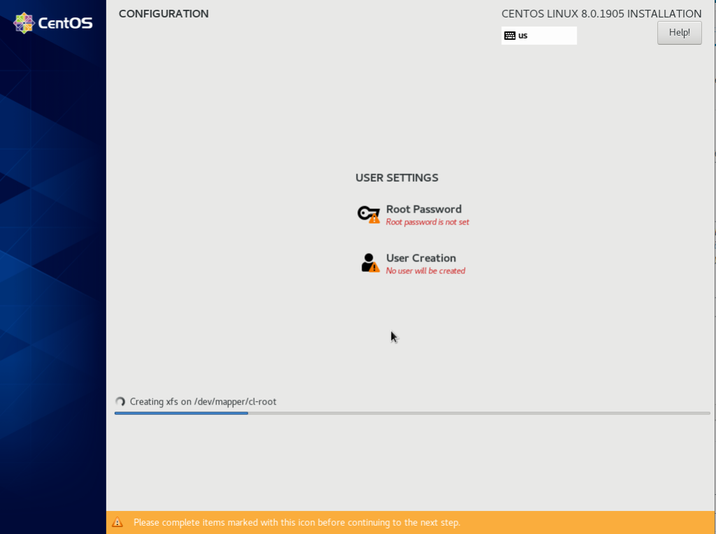 Creating a user on CentOS 8