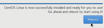 Reboot option installation done