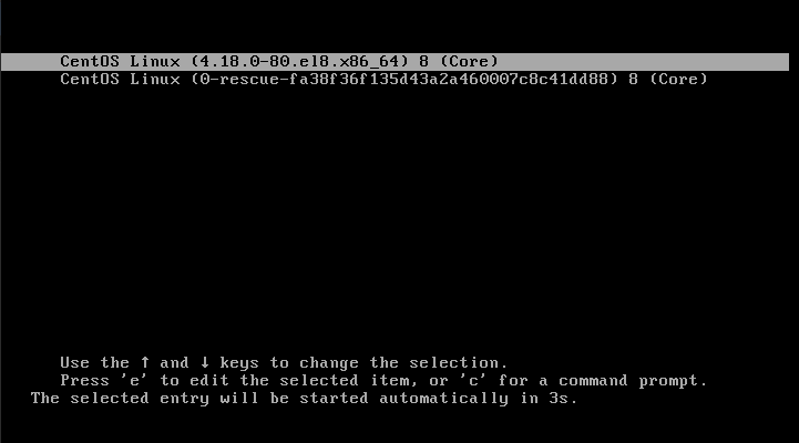 Booting on CentOS 8 on Linux