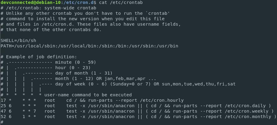 Crontab jobs on Linux