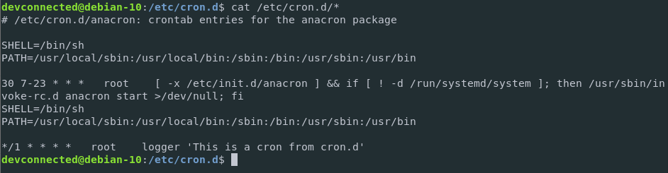 Cron.d jobs on Linux