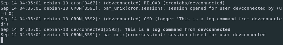 Cron job on Linux for a given user