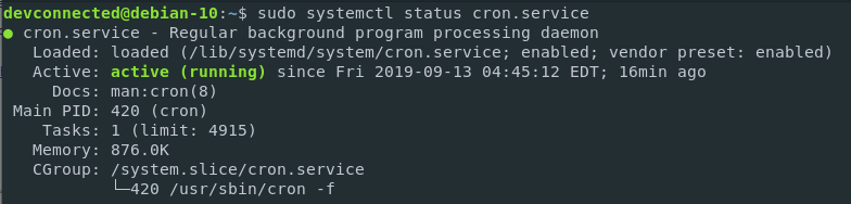 Cron service on Linux