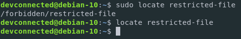 Finding files on Linux using sudo locate