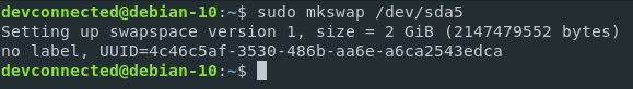 Add swap space on Debian 10 Buster