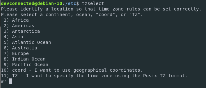 Changing timezone on Debian 10 using the TZ environment variable