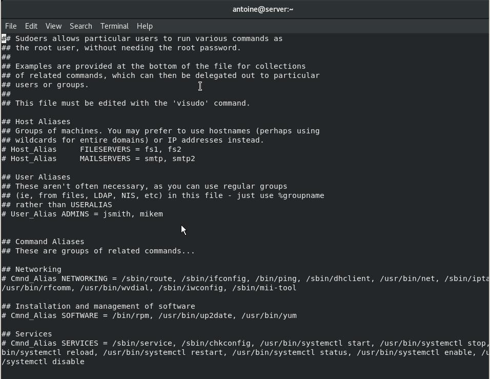 Adding a user to sudoers on CentOS 8 via visudo