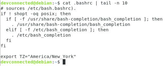 Set Environment Variable using bashrc