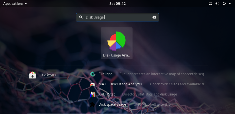 Disk Usage Analyzer tool on GNOME