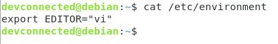 Set Environment Variable using /etc/environment