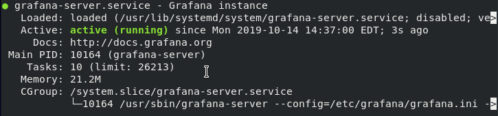 Starting Grafana server on CentOS 8
