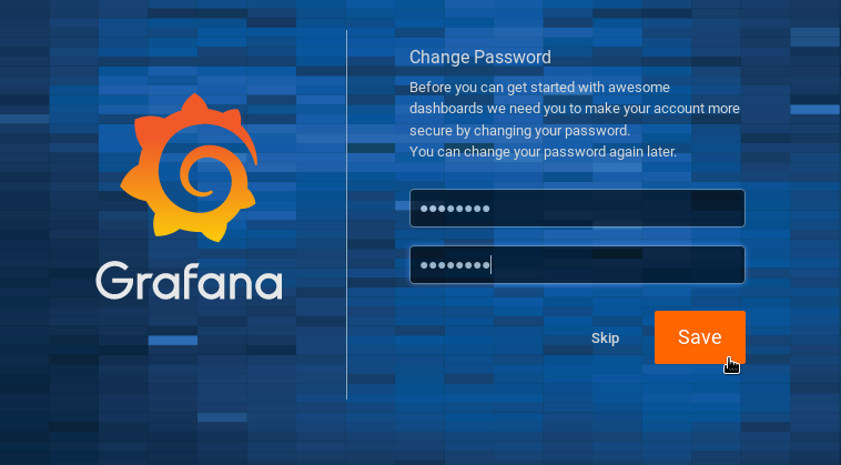 Change Grafana password on Centos 8