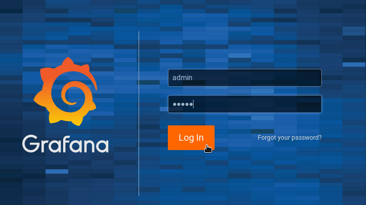 Grafana default screen on CentOS 8