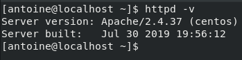 Checking Apache version on CentOS 8
