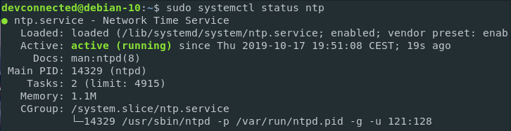 set date on linux using ntp