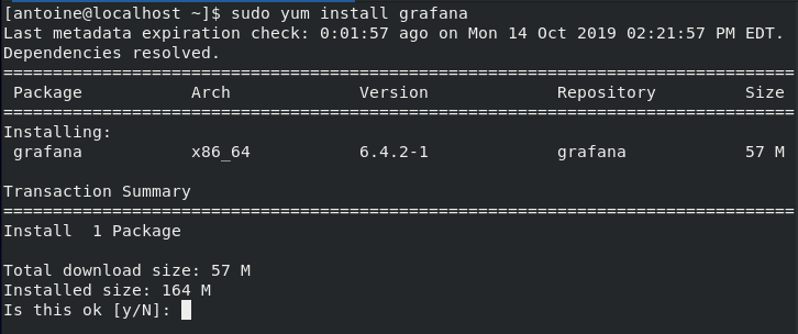 Installing Grafana on CentOS 8