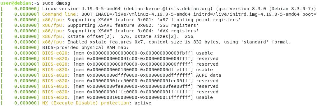 dmesg command linux