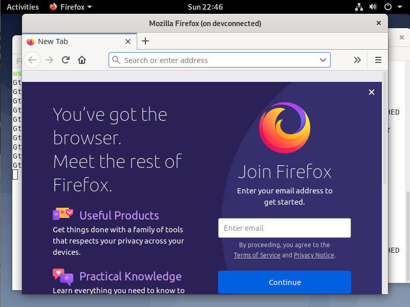 Running Firefox application through SSH