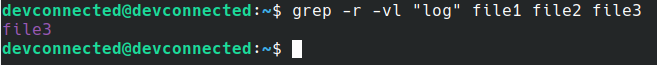 filenames using grep on Linux