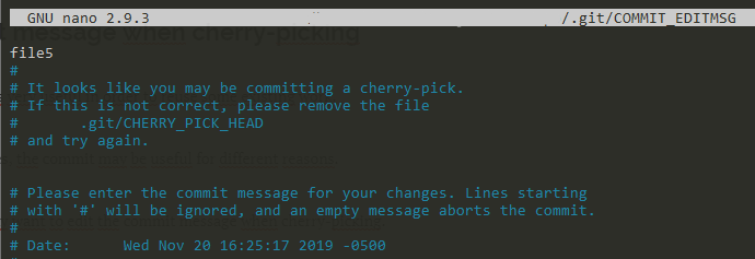 Change commit message cherry-pick