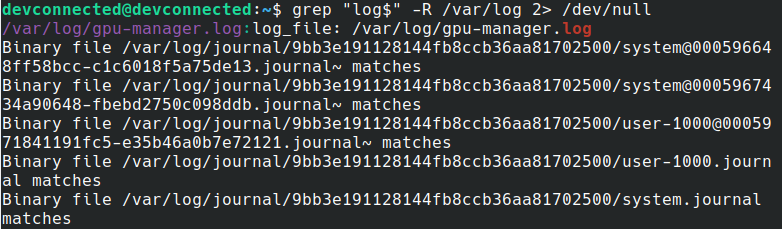 find text recursively using grep