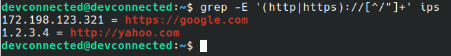 find URL using grep on Linux