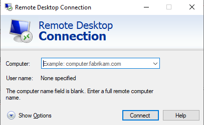 Remote Desktop connection client on Windows