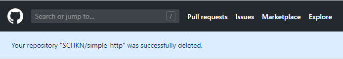 repository successfully deleted