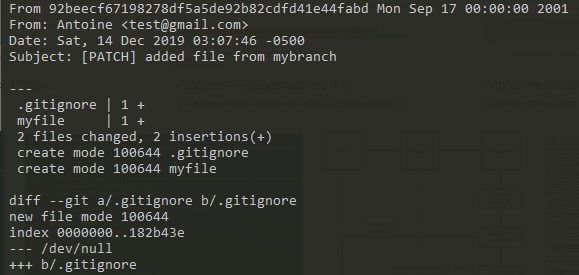 Create Git patch file example