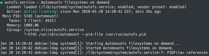autofs service on linux